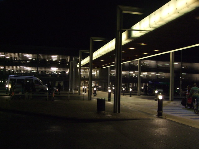 Near the Multi-Story Car Parking area across from the terminal