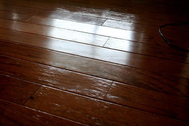 Wood Floor Water Damage Master Bedroom By