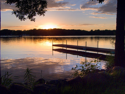 sunset lake dock emmetsburg