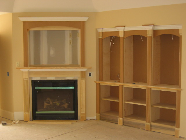 Custom Built In Wall Unit With Fireplace Flickr Photo