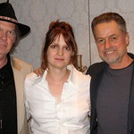Neil Young and Jonathan Demme at WFUV with Claudia Marshall