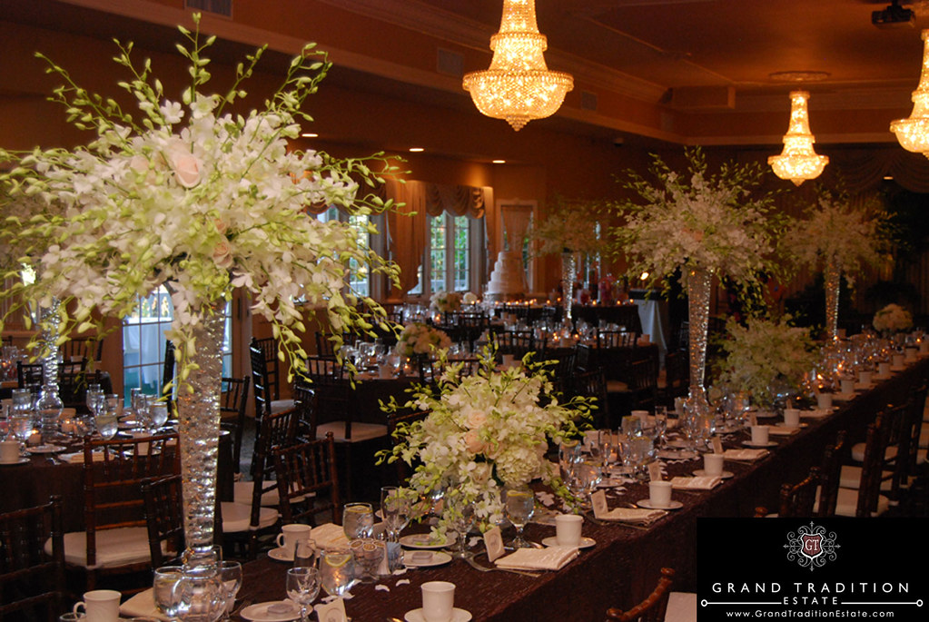 Crystal Ballroom Wedding Reception At The Grand Tradition Estate