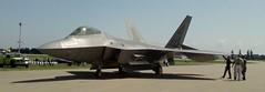 sukhoi su-27(0.0), lockheed martin f-35 lightning ii(0.0), lockheed f-117 nighthawk(0.0), mcdonnell douglas f-15 eagle(0.0), propeller(0.0), mcdonnell douglas f-15e strike eagle(0.0), mikoyan mig-29(0.0), lockheed martin f-22 raptor(1.0), airplane(1.0), vehicle(1.0), fighter aircraft(1.0), jet aircraft(1.0),