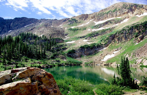 summer lake mountains reflection landscape utah ut wasatch hiking front hike basin explore alpine alta albion cecretlake snowbird subalpine albionbasin secretlake alhikesaz uthike