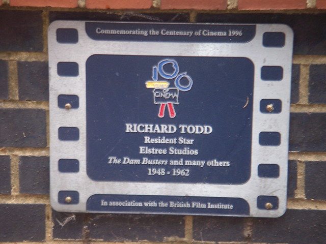 Richard Todd film cell plaque - Richard Todd Resident Star Elstree Studios The Dam Busters and many others 1948-1962