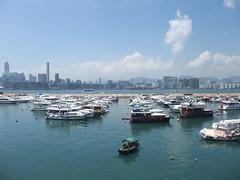 銅鑼灣避風塘全景圖的一部分