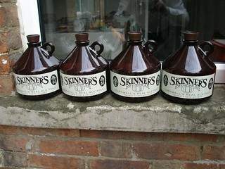 Four bottles in a row