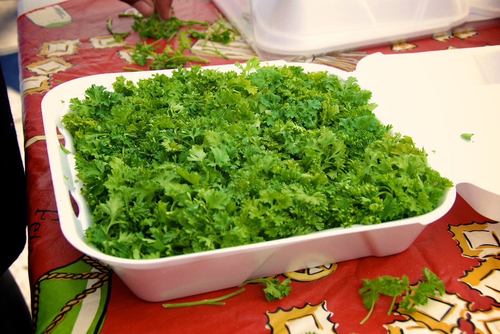 A bed of parsley that you can put on | 4th annual smoking in