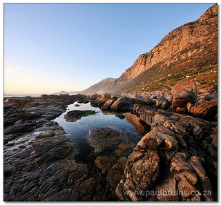 Misty Cliffs Rock Pool (Vertorama)