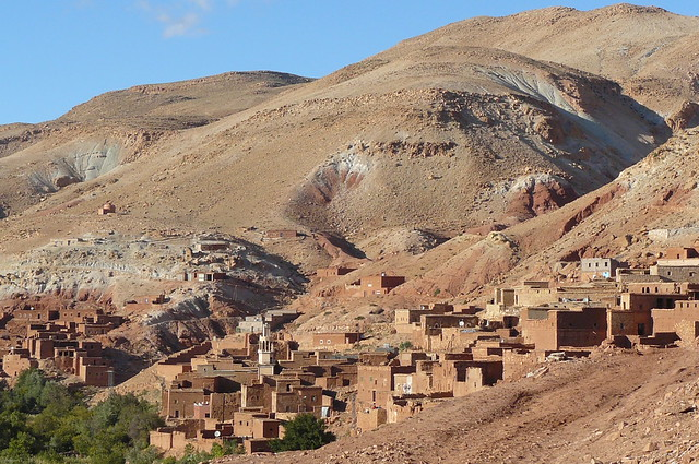 Remote village in the High Atlas Mountains between Marrakech and Ouzarzate