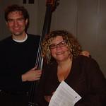 Viktor Krauss with Rita Houston at WFUV