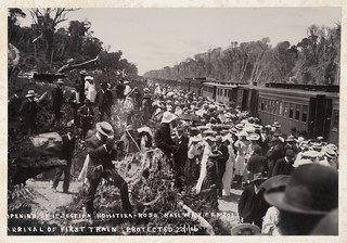 Opening of the first section of the Hokitika-Ross railway, West Coast, ca 22 Jan 1906