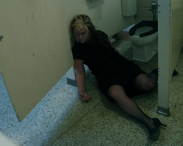 Death by toilet.... it smelled so bad she fell and hit her head