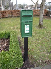 post box, yard, letter box, lawn,