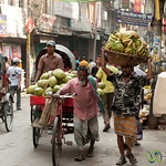 Typical Street Scene in Shakhari Bazar - Dhaka, Bangladesh
