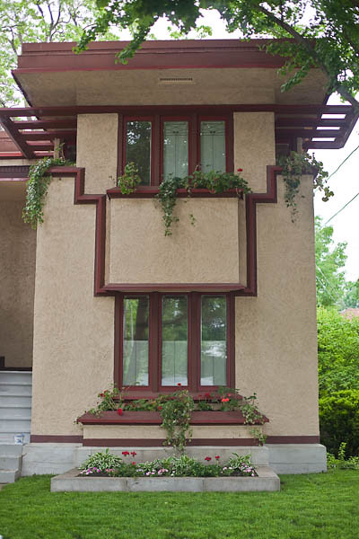 Wright's Model Flat C - Front Elevation in American System Built Homes ...
