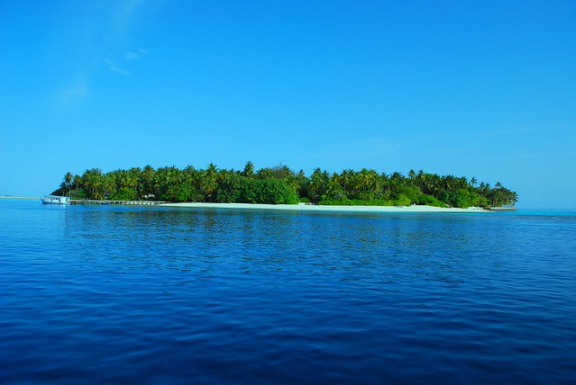 A small island in maldives