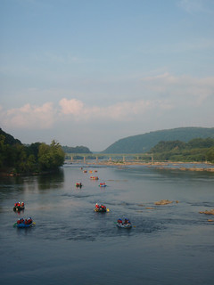 rafters passing through Harpers Ferry