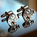 TIME LORD Steampunk Vintage Watch Movement Cufflinks by 19 Moons