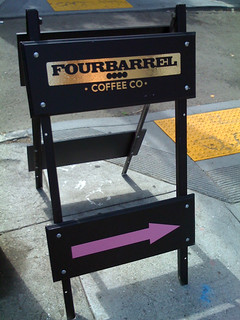 Four Barrel street sign