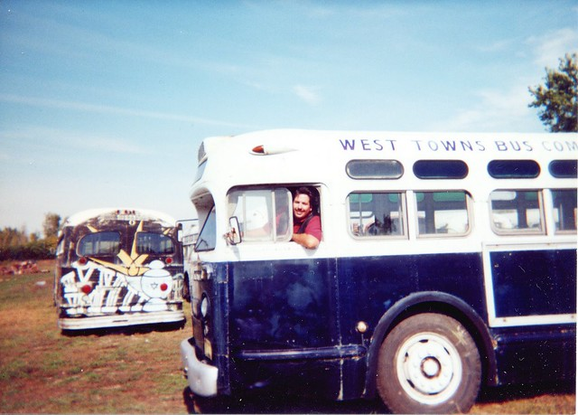 Eddie K Driving A Preserved 1950 General Motors Tdh Old Look Bus From The West Towns Bus Company