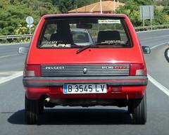 automobile, peugeot, supermini, vehicle, city car, peugeot 205, land vehicle, hatchback,