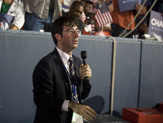 Daily Show reporter John Oliver at the DNC at Invesco Field