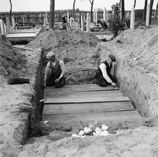 Begraven van slachtoffers