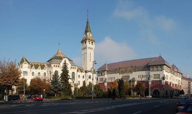 Palace of Administration & Palace of Culture at Marosvásárhely