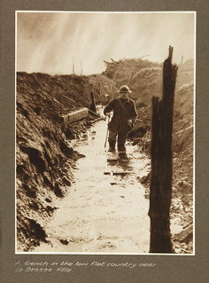 A trench in the low flat country near La Bassee Ville