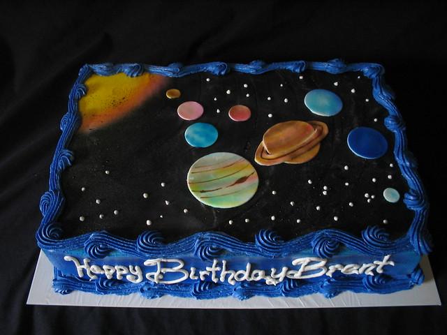 Solar System Birthday Cake