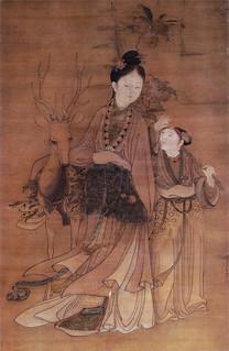 冷枚「西王母像」(清朝)