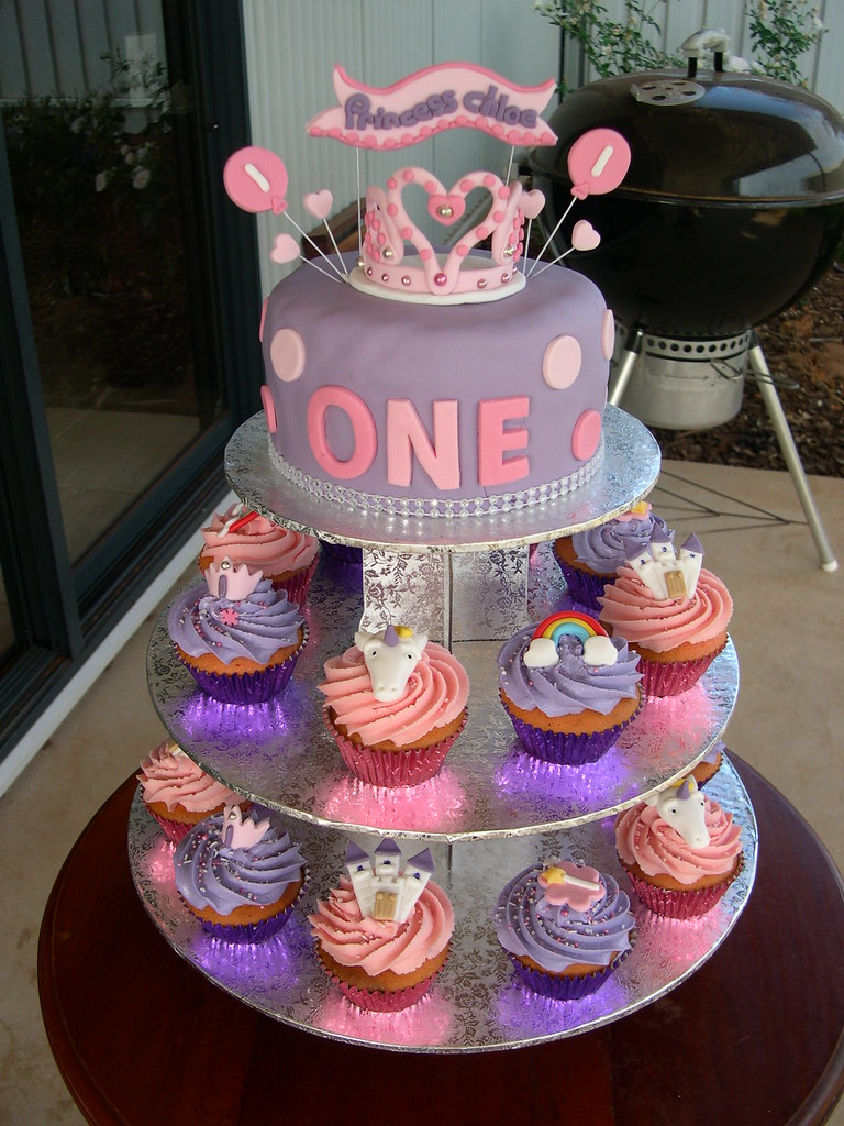 Princess Chloes First Birthday Cake