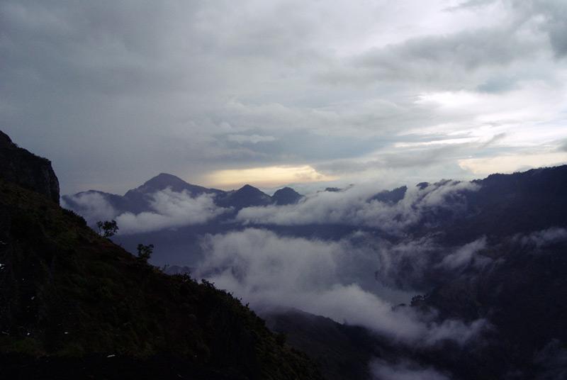 Fog - Segara Anak lake view