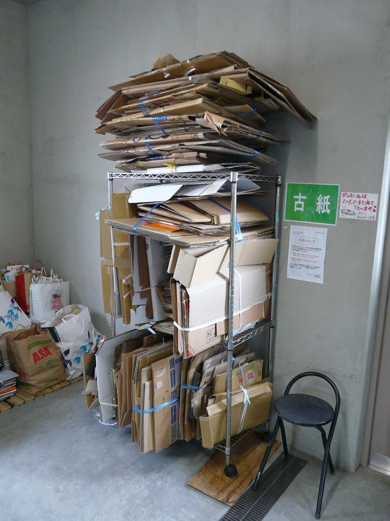 Cardboard Box Recycling Tower