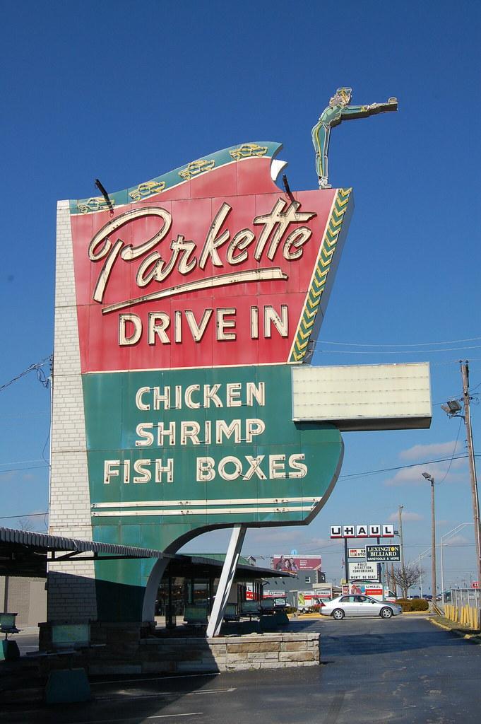 Parkette Drive In - 1230 East New Circle Road, Lexington, Kentucky U.S.A. - February 8, 2008