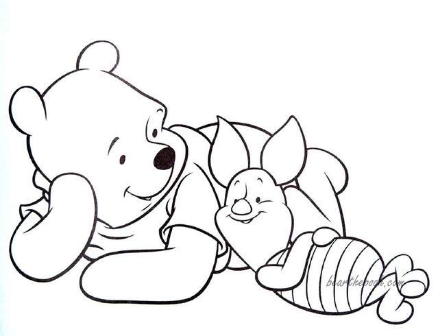 pooh and piglet coloring pages-#35
