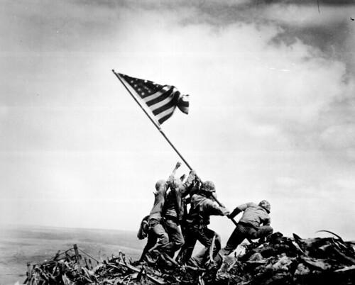 無料写真素材, 戦争, 兵士, 国旗, 国旗  アメリカ合衆国, 第二次世界大戦, 太平洋戦争, 硫黄島の戦い, 風景  日本