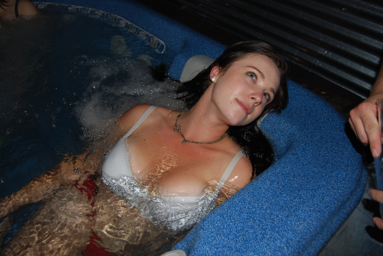 Naked girls in a tub