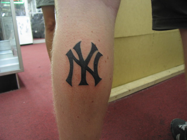 Tattoo 64 anders from sweden got a new york yankees for New york yankees tattoo
