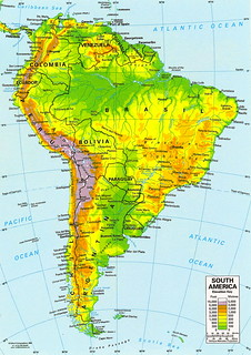 Mapa de América del Sur - Sudamérica - Suramérica - mapa da América do Sul - map of South America