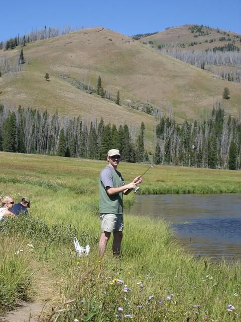 Paul fishing at cascade lake flickr photo sharing for Cascade lake idaho fishing