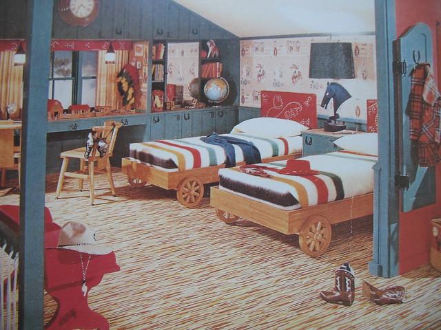 1950s boy 39 s cowboy attic room flickr photo sharing for 1950 bedroom ideas