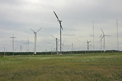prairie, windmill, field, plain, wind farm, electricity, wind turbine,