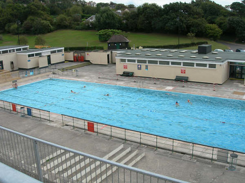 Portishead open air pool from terraces photo kindly - Open air swimming pool portishead ...