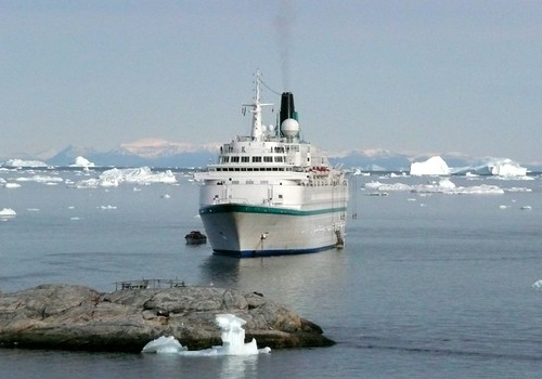 MS Albatros in Disco bay, greenland by tina070382
