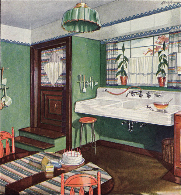 1928 kitchen by crane flickr photo sharing for Kitchen ideas for 1920s house