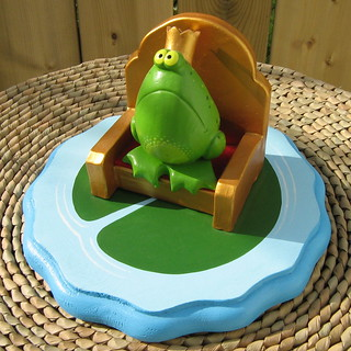 The Frog Prince - whimsical original sculpture