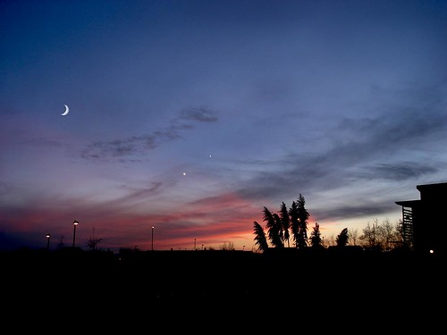 Sunderland  the Moon, Venus and Jupiter.