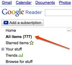 Google reader this morning